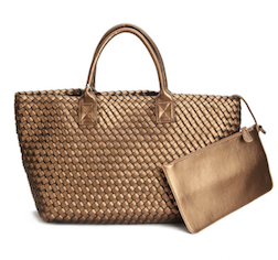 Woven Tote Bag with inner Zip Pouch