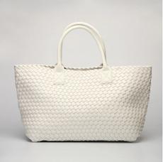 White Woven Tote Bag