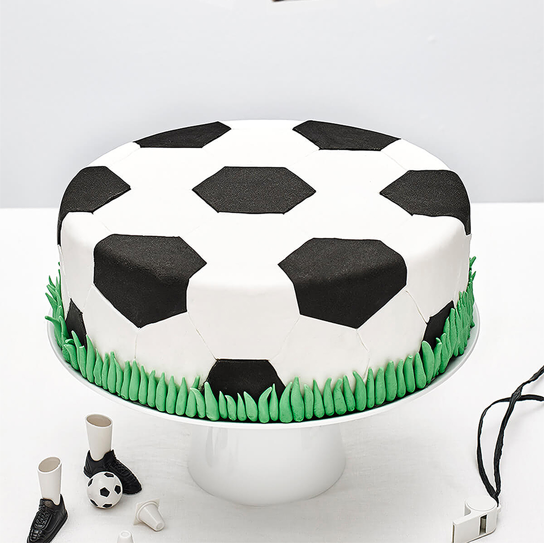 diy soccer ball cake kit cakest