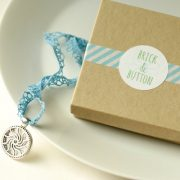 Brick & Button necklace with gift box