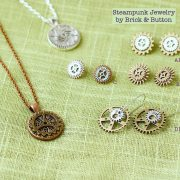 Mixed Metal Gears Steampunk Jewelry