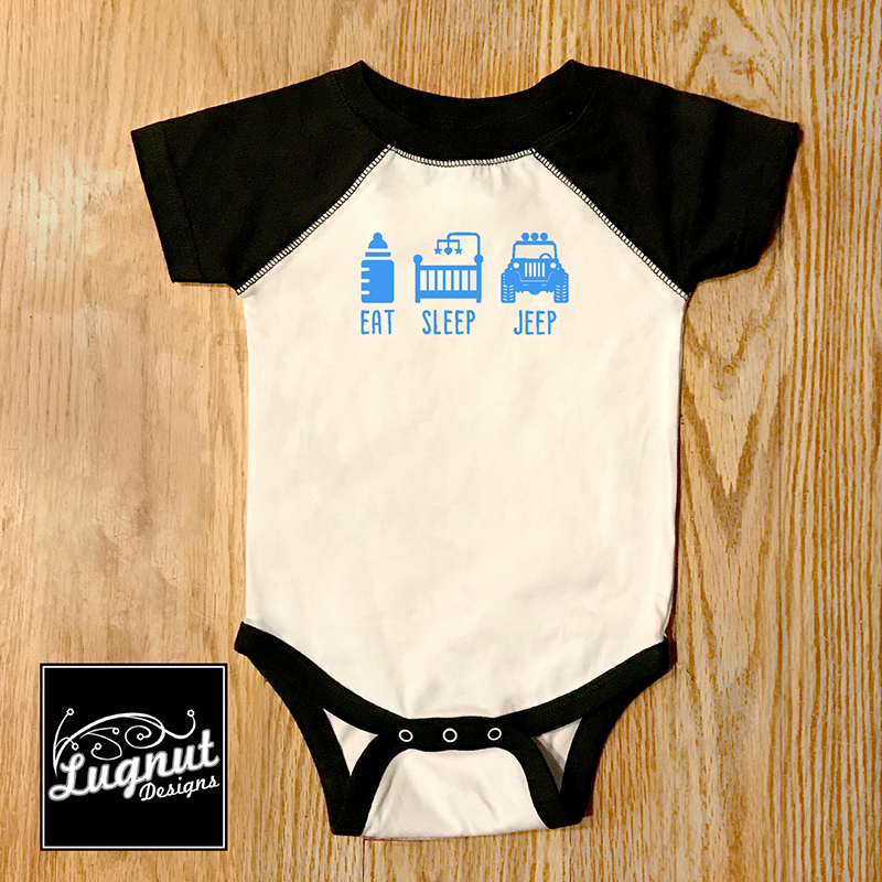 Eat Sleep Jeep Baby Bodysuit Booked Parties