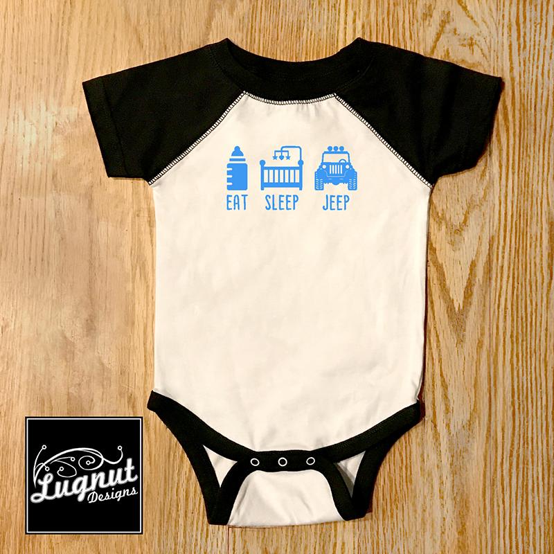 Eat Sleep Jeep Baby Bodysuit Booked Parties