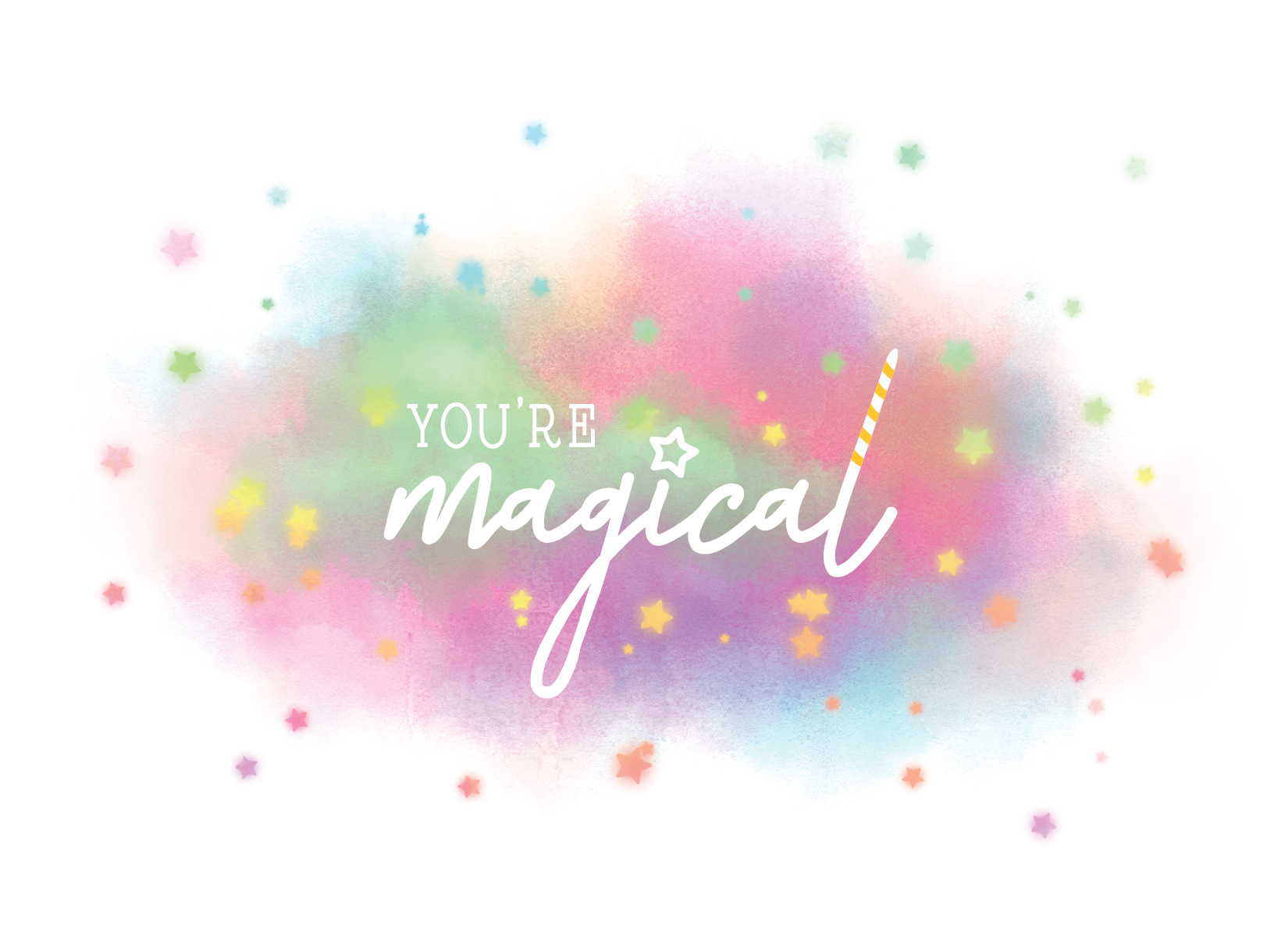 You are Magical Unicorn Note Cards