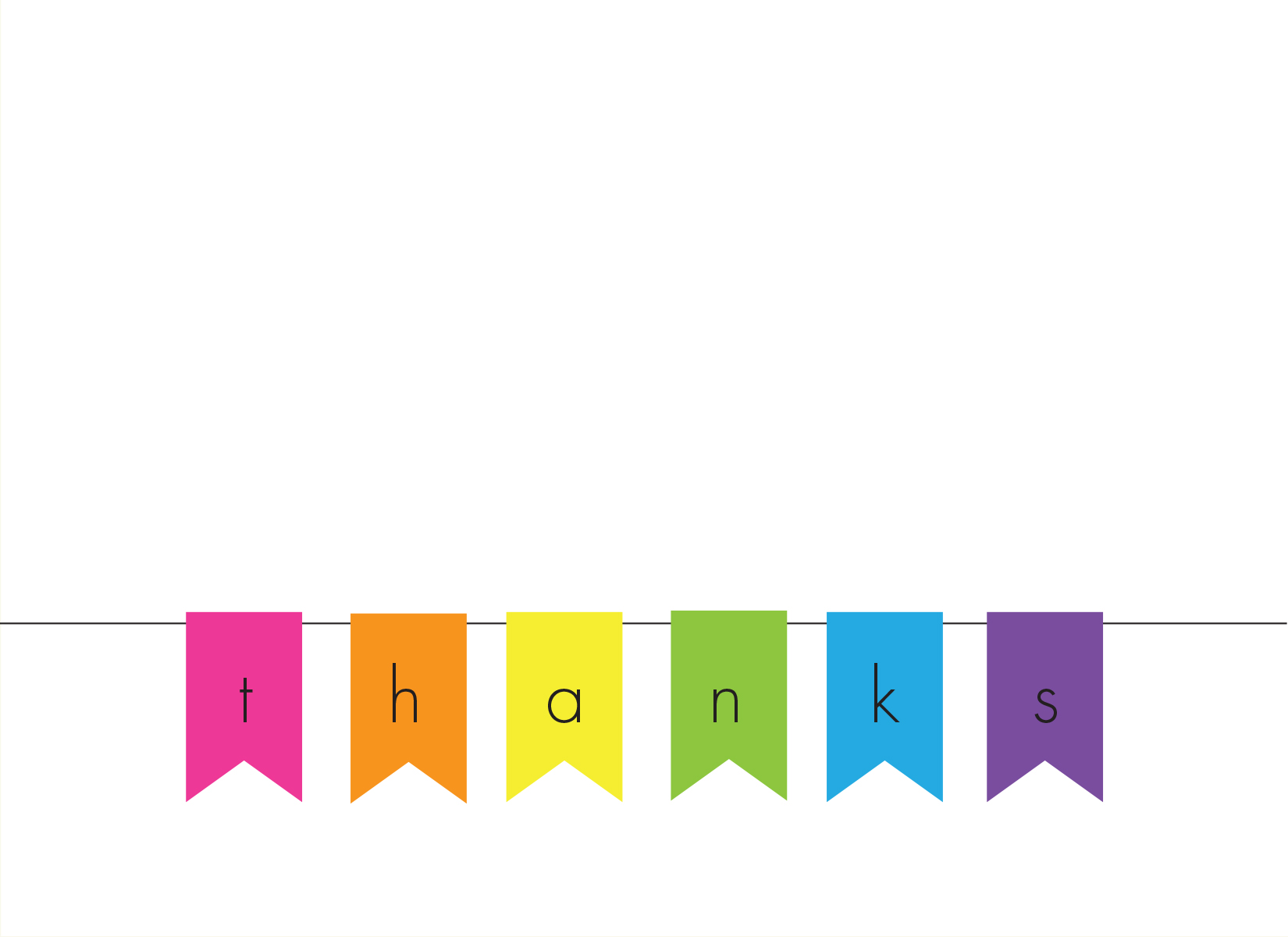 Banner of Thanks Note Cards