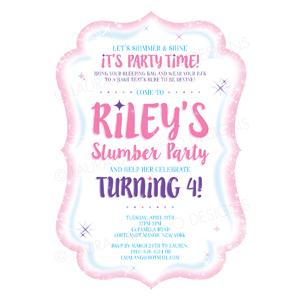 Shimmer Shine Birthday Invitation