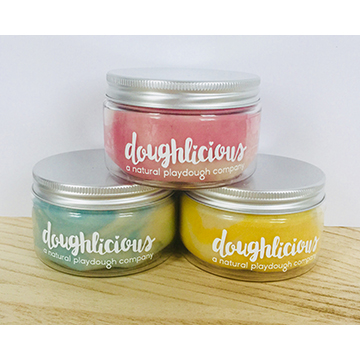 10 Jars of Marbled Play Dough