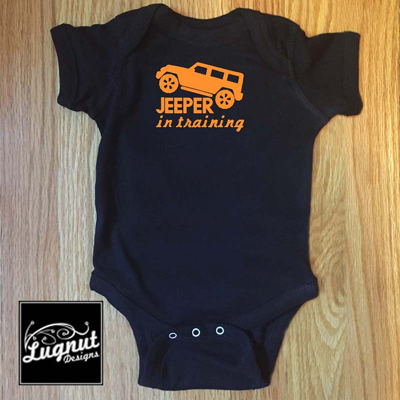 Jeeper in Training – Baby Bodysuit or Toddler T Shirt
